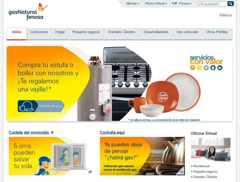 Oficina online gas natural top inform el municipio para for Oficina gas natural valladolid